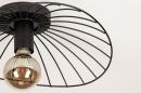 Plafondlamp 74333: modern, retro, metaal, zwart #6