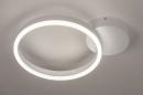 Plafondlamp 74337: design, modern, metaal, wit #3