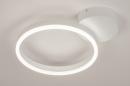 Plafondlamp 74337: design, modern, metaal, wit #4