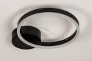 Plafondlamp 74338: design, modern, metaal, zwart #1