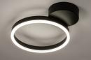Plafondlamp 74338: design, modern, metaal, zwart #3