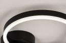 Plafondlamp 74338: design, modern, metaal, zwart #7