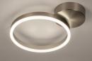 Plafondlamp 74339: design, modern, staal rvs, kunststof #4