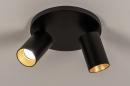 Plafondlamp 74344: modern, eigentijds klassiek, aluminium, metaal #2
