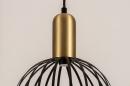 Hanglamp 74367: modern, eigentijds klassiek, art deco, messing #10