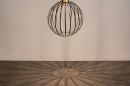 Hanglamp 74367: modern, eigentijds klassiek, art deco, messing #8