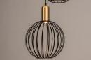 Hanglamp 74367: modern, eigentijds klassiek, art deco, messing #9