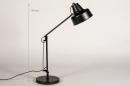 Lampe de chevet 74384: rural rustique, retro, acier, noir #1