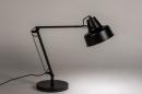 Lampe de chevet 74384: rural rustique, retro, acier, noir #2