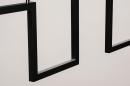 Hanglamp 74389: design, modern, metaal, zwart #10