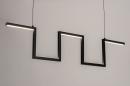 Hanglamp 74389: design, modern, metaal, zwart #12