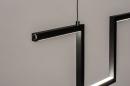 Hanglamp 74389: design, modern, metaal, zwart #8
