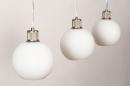 Hanglamp 74393: modern, retro, glas, wit opaalglas #10