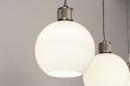 Hanglamp 74393: modern, retro, glas, wit opaalglas #11