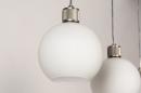 Hanglamp 74393: modern, retro, glas, wit opaalglas #12