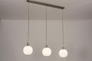 Hanglamp 74393: modern, retro, glas, wit opaalglas #2