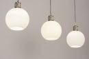 Hanglamp 74393: modern, retro, glas, wit opaalglas #3
