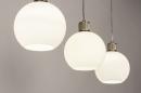Hanglamp 74393: modern, retro, glas, wit opaalglas #4