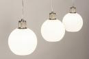 Hanglamp 74393: modern, retro, glas, wit opaalglas #5