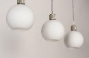 Hanglamp 74393: modern, retro, glas, wit opaalglas #8