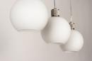 Hanglamp 74393: modern, retro, glas, wit opaalglas #9