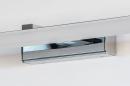Wandlamp 74408: modern, metaal, chroom, rechthoekig #10