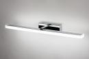 Wandlamp 74408: modern, metaal, chroom, rechthoekig #4