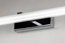 Wandlamp 74409: modern, metaal, chroom, rechthoekig #10