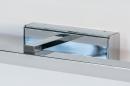 Wandlamp 74409: modern, metaal, chroom, rechthoekig #8