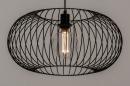 Hanglamp 74413: modern, retro, metaal, zwart #3