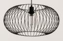 Hanglamp 74413: modern, retro, metaal, zwart #4