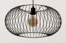 Hanglamp 74413: modern, retro, metaal, zwart #5