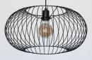 Hanglamp 74413: modern, retro, metaal, zwart #6