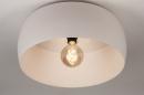 Plafondlamp 74416: modern, metaal, wit, grijs #5