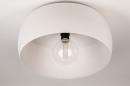 Plafondlamp 74416: modern, metaal, wit, grijs #6