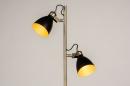 Vloerlamp 74468: modern, retro, eigentijds klassiek, messing #3