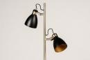 Vloerlamp 74468: modern, retro, eigentijds klassiek, messing #4
