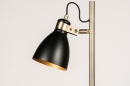 Vloerlamp 74468: modern, retro, eigentijds klassiek, messing #6