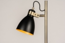 Vloerlamp 74468: modern, retro, eigentijds klassiek, messing #7