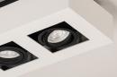 Plafondlamp 74485: design, modern, aluminium, zwart #10