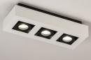 Plafondlamp 74485: design, modern, aluminium, zwart #2