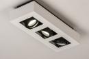 Plafondlamp 74485: design, modern, aluminium, zwart #3