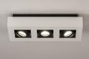 Plafondlamp 74485: design, modern, aluminium, zwart #4