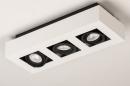 Plafondlamp 74485: design, modern, aluminium, zwart #5
