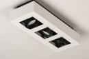 Plafondlamp 74485: design, modern, aluminium, zwart #7
