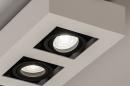 Plafondlamp 74485: design, modern, aluminium, zwart #8