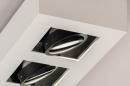 Plafondlamp 74485: design, modern, aluminium, zwart #9
