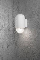 wandlamp 10050 sale modern aluminium wit mat ovaal
