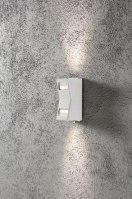 wandlamp 10054 eindereeks modern aluminium metaal wit mat rechthoekig