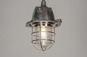 hanglamp 10058 landelijk rustiek industrie look metaal rond